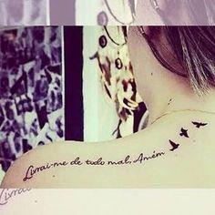 Livrai me de todo o mal amém - Deliver me from evil Amen #frasetatuagens #tatuagens #tattoo #tattooink #caligrafia #Frases #tattooidea #tattoolife #tattooist #custom #lettersallday #lettering #calligraphy #letteringtattoo #handtype #script #scripttattoo #ink #tatuagem #escrita #tattooescrita #tatuagemescrita #instattoo #tattooartist #tatuagemfeminina #tattoosfofas #tatuagenscaligraficas #tattoogirls