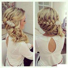 Hermoso peinado, ideal para boda civil