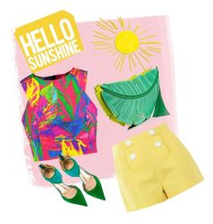 Designer Clothes, Shoes & Bags for Women Jean Michel, Hello Sunshine, Boutique Moschino, Kate Spade, Shoe Bag, Polyvore, Summer, Swimwear, Stuff To Buy