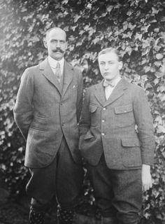 King Haakon VII and Crown Prince Olav of Norway, c.1920. | Royal Collection Trust