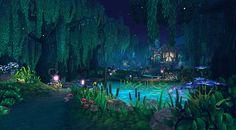 Fantasy Art Landscapes, Fantasy Landscape, Fantasy Artwork, Landscape Art, Episode Interactive Backgrounds, Episode Backgrounds, Scenery Background, Fantasy Background, Forest Background