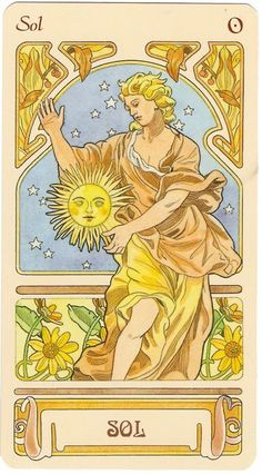 The Sun Tarot Card, Major Arcana Number 19.