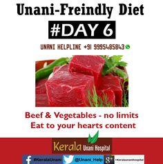 Unani-Friendly Diet - Day 6 Visit us at KeralaUnani.com Unani Helpline: +91 9995 485843