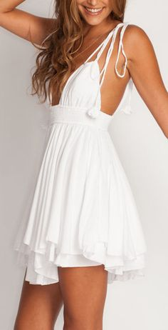 Halter flutter dress