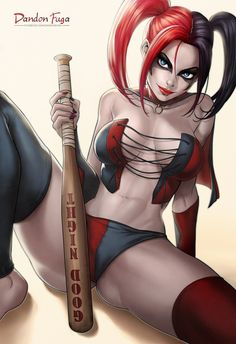 Harley Quinn (Suicide Squad Comic) by dandonfuga.deviantart.com on @DeviantArt - More at https://pinterest.com/supergirlsart/ #harleyquinn #dccomics #fanart #sexy #hot