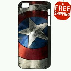 Captain America iPhone case. They never make cool cases like this for my kind of phone!