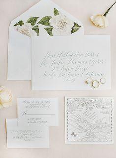 Photography : Kristen Beinke | Invitations : Lazaro Press Read More on SMP: http://www.stylemepretty.com/2016/10/07/san-ysidro-ranch-garden-wedding/