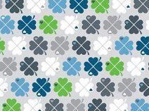 Jersey - Klee - by Graziela - bunt auf grau