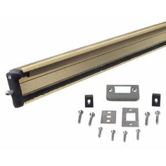 M-D Building Products 87809 WS059 80-Inch Aluminum Locking Slide Bolt Combination Astragal by M-D Building Products. $55.69. From the Manufacturer                Premium quality locking slide bolt door astragal for sealing double doors. Surface mount astragal uses a vinyl insert for a weathertight seal. Locking bolt for security. 7/16-Inch to 1/2-Inch clearance required between doors.                                    Product Description                Premium quality...
