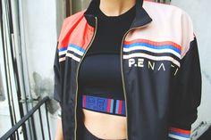 PE Nation's Retro-Inspired Activewear: Workout gear that's made to be worn inside and outside the gym Retro Sportswear, Retro Gym, Fashion Forecasting, Sports Luxe, Athletic Wear, Sport Fashion, Casual Looks, Lounge Wear, Active Wear