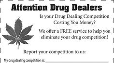 Calling dopey dealers: Kentucky sheriff's office will 'help eliminate your drug competition' http://sumo.ly/88oI  © The Darien News
