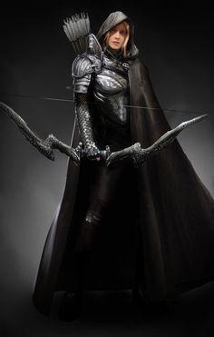 Dragon Archer – fantasy character concept by David Kaye