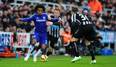 PHOTO Chelsea have had 10 attempts on goal with Willian coming closest, but it remains 0-0 after 27 minutes #NEWCHE