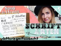 HANDLETTERING für Anfänger I Schriftarten #letteringmitooobacht - YouTube