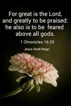 1 Chronicles 16:25 KJV