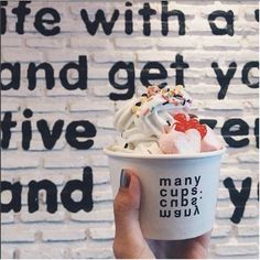 """@manycups's photo: """"... MAKE TIME FOR YOURSELF : ❤️ EAT GOOD, FEEL GOOD (Pic: Via Instagram #manycups : Thanks @parnssprn) ... #creative #premium #organic #frozen #yoghurt #yogurt #froyo #frozenyoghurt #happy #happiness #make #time #yourself #eat #feel #good #aroihere #teammanycups #teamdjpoom #delicious #townintown #thescene #kvillage #bangkok #thailand"""""""