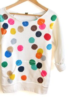 multicoloured dotty sewatshirt