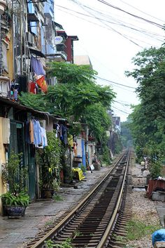 Hanoi Railroad Tracks by AdamCohn on Flickr.