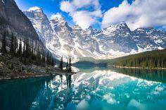 Moraine Lake, Banff National Park, Alberta, Canada - You need to camp here!