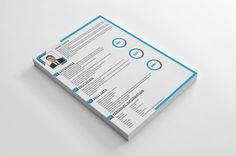 Clean Corporate Resume by shujaktk on @creativemarket