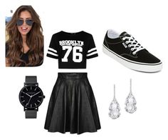 Cool girl by tatiana-hamonic on Polyvore featuring polyvore fashion style Boohoo Jeremy Scott Vans Plukka The Horse clothing