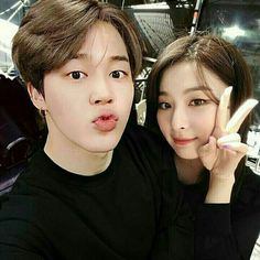 "Ok I'm sorry, I know not everyone ships ""Seulmin"" and I'm not saying I do or don't etheir, but this edit is really cute and actually really realistic, in my opinion. Feel completely free not to save it if you don't like it☻♡ Bts Jimin, Kpop Couples, Cute Gay Couples, Korean Couple, Best Couple, K Pop, Jimin Seulgi, Bts Girlfriends, Bora Lim"