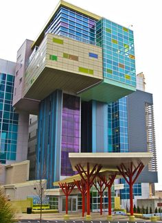 Childrens hospital - I enjoy how playful the building looks, although this looks too much like a hospital for me