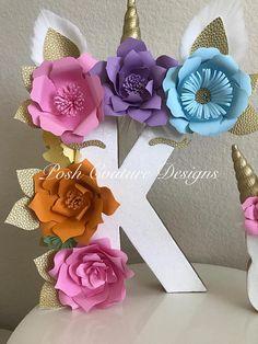 Cartas florales unicornio © / unicornio Floral números /
