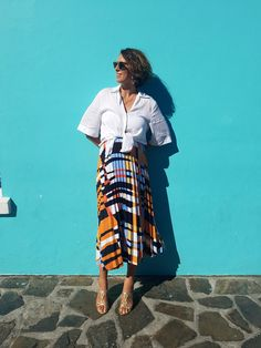 A day in Bo Kap, Cape Town, Nina Campioni wears skirt from Lindex, shirt from Acne Studios, vintage shoes and Ray-Ban sunglasses! Welcome to my blog for more looks!