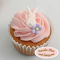 Simple Bunny Cupcakes by dominique - Holidays/Celebrations - Cupcake Spring Cupcakes, Fancy Cupcakes, Pretty Cupcakes, Beautiful Cupcakes, Flower Cupcakes, Mocha Cupcakes, Gourmet Cupcakes, Strawberry Cupcakes, Velvet Cupcakes