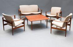 Lot 103A128 - Sitzgruppe '711' Kayser, Frederik A. Vatne Lenestolfabrikk, Norwegen -> Auction 103A