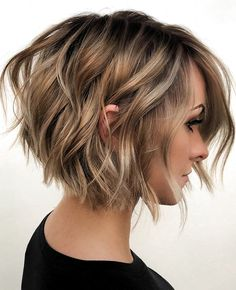 Fine hair can be a nightmare to style. Thankfully, short hair makes it easier. Check out these trendy short hairstyles for fine hair. Layered Bob Hairstyles, Short Hairstyles For Women, Hairstyles Haircuts, Casual Hairstyles, Party Hairstyles, Bob Hairstyles Round Face, Haircuts For Thin Hair, Fine Hair Hairstyles, Short Hair Cuts For Women Bob