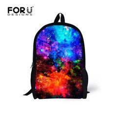FORUDESIGNS School Bags for Teenager Boys Galaxy Printing Students Bookbags High Quality School Backpack Bolsas Mochila Unisex