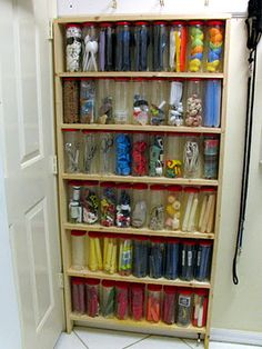 Tennis cans ~ They are unbreakable, free, transparent, so you don't need to label them, and you are recycling. They can be used in the garage, kitchen, car, bathroom, gym bag, craft area, office, boat, RV, etc. ~ ritamay-day.blogspot.com
