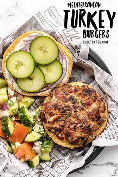 Turkey Recipes, Chicken Recipes, Dinner Recipes, Dinner Ideas, Lunch Ideas, Meat Recipes, Greek Turkey Burgers, Cooking Recipes, Vegetables