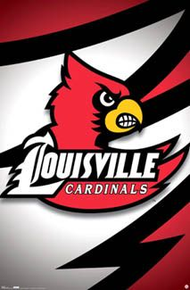 University of LOUISVILLE CARDINALS OfficiaNCAA Logo Poster  -available at www.sportsosterwa...