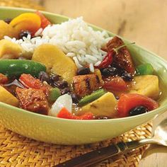 Caribbean-Style Pork Stew, Diabetic friendly.