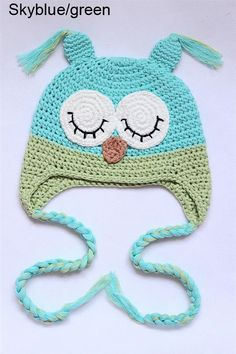 Want. Cute Handmade Owl Newborn Baby Child Girls Boys Knit Hat Cap Photograph New Gift | eBay