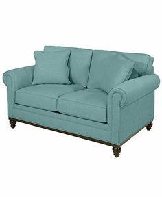 "Martha Stewart Fabric Loveseat, Club: Custom Colors 64""W x 38""D x 31""H - Sofas - furniture - Macy's"