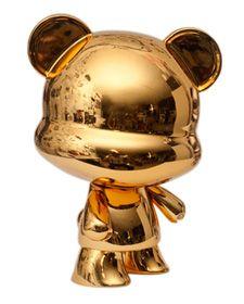 beer  goud  reflectie