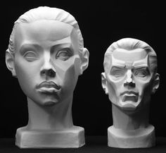 Male Planes Head Artist's Reference Cast