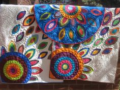 The latest additions to my In Bloom series-- hand applique flower quilts.