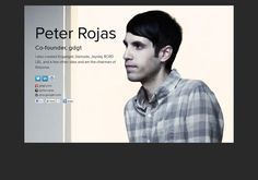 Peter Rojas' page on about.me – http://about.me/peter