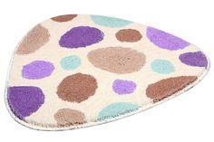 Badematte »Trios2« - freche Sonderform! Diese Matte ist anders! Die Form verbunden mit den Farben im Design bringt Pep in jedes Badezimmer. Das Design erinnert an eine Steinoptik, jedoch alles in modischen, Farben. Setzen Sie so relativ einfach einen tollen Akzent, der auch noch nützlich ist und warme Füße verschafft. Praktisch ist die Badematte auch noch: Sie ist pflegeleicht, weil waschbar un...