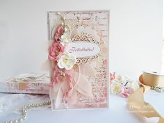 Elena Arts: Cómo es una boda perfecta? Mixed Media, Shabby Chic, Gift Wrapping, Scrapbook, Ideas, Cards, Gifts, Modeling Paste, The Creation