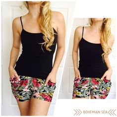Adorable Floral Shorts So soft and cute! Hello Sunshine! These are perfect for the summer! Light weight material, almost suede like. Available in S/M & M/L*** please do not purchase this listing, comment below with your size and I will make you a personal listing xo Bohemian Sea Shorts