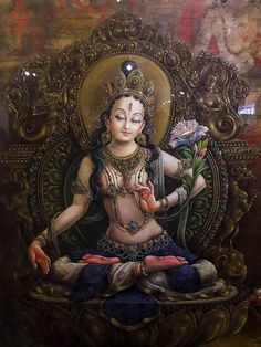Commission authentic Thangka paintings, Tibetan mandalas, Himalayan masks, Hindu and Buddhist works of art created by the artists of a lovely community in Nepal Thangka Painting, Buddha Painting, Buddha Art, Tara Goddess, Goddess Art, Tantra Art, Tibet Art, Vajrayana Buddhism, India Art