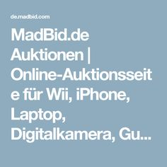 MadBid.de Auktionen | Online-Auktionsseite für Wii, iPhone, Laptop, Digitalkamera, Gutscheine, LCD-Fernseher, Parfum, Auto, Netbook, Handy, MP3-Player, pay-to-bid