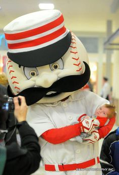 Mr. Redlegs during the Reds Caravan held at the Lima Mall on Saturday. RICHARD PARRISH / The Lima News