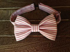 Red and White Bow Tie by BrileyBean on Etsy